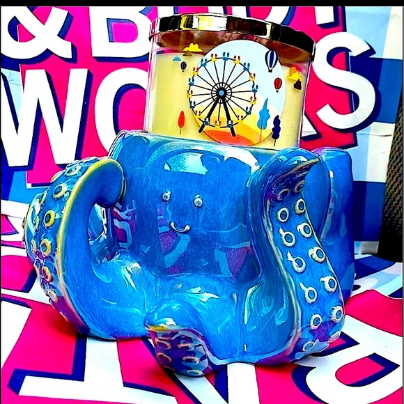 Bath & body works candle holder 3wick OCTOPUS new